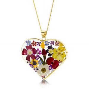 Real Flowers in Sterling Silver and the 23k Gold Plate Collection