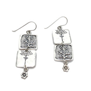 Contemporary Silver Earrings and Clip Ons