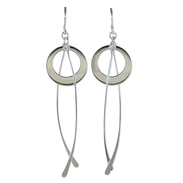 Modern Earrings in 925 Sterling Silver