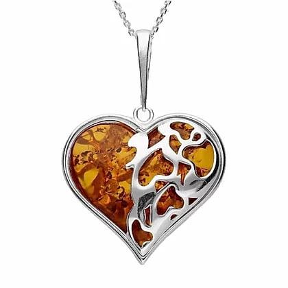 Modern Amber in 925 Sterling Silver