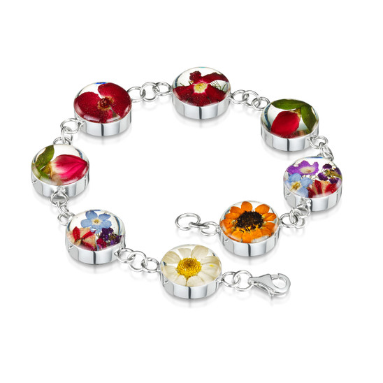 Real Flowers in 925 Sterling Silver and 23 k Gold Plate